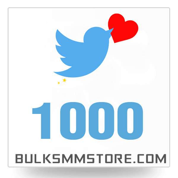 Real 1000 Twitter Likes