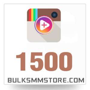 Real 1500 Instagram Video Views