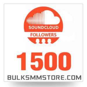 Real 1500 Soundcloud Followers