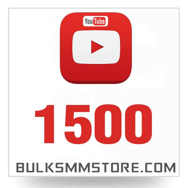 Real 1500 Youtube Views