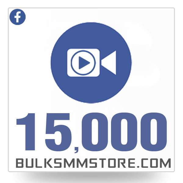 Real 15,000 Facebook Video Views