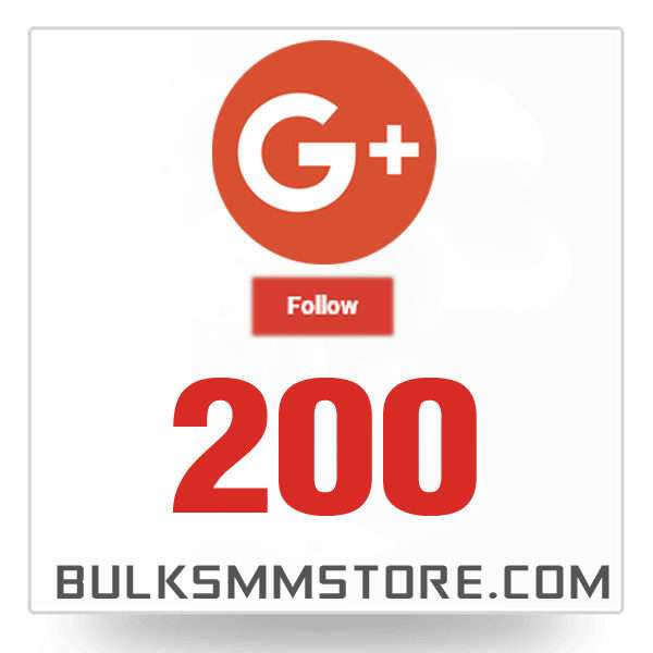 Real 200 Google Plus Followers