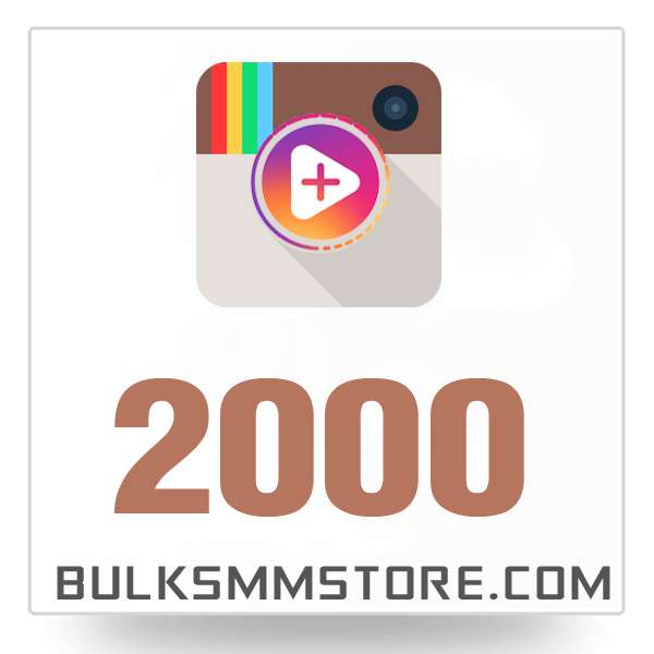 Real 2000 Instagram Video Views