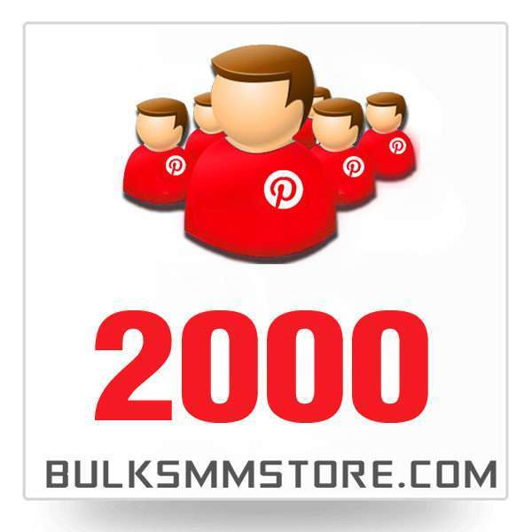 Real 2000 Pinterest Followers