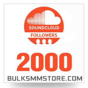 Real 2000 Soundcloud Followers