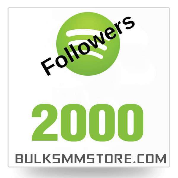 Real 2000 Spotify followers