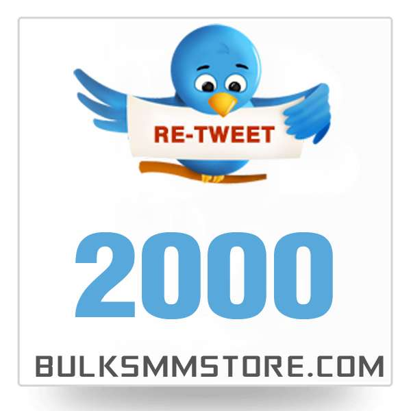 Real 2000 Twitter Retweet
