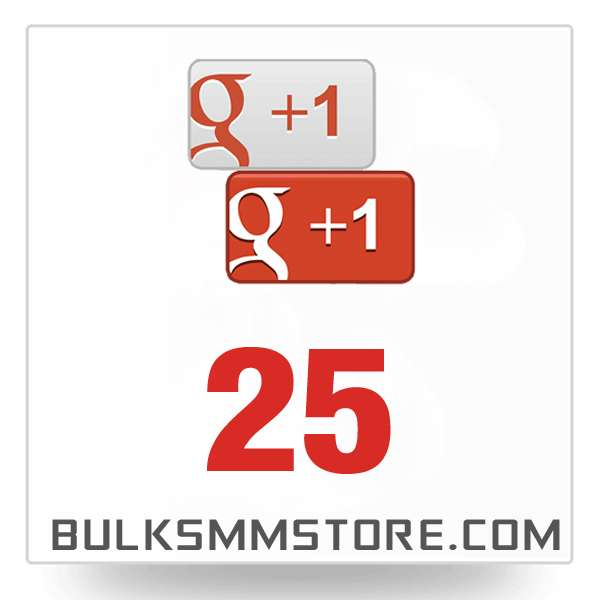 Real 25 Google Plus Likes