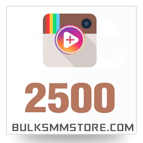 Real 2500 Instagram Video Views