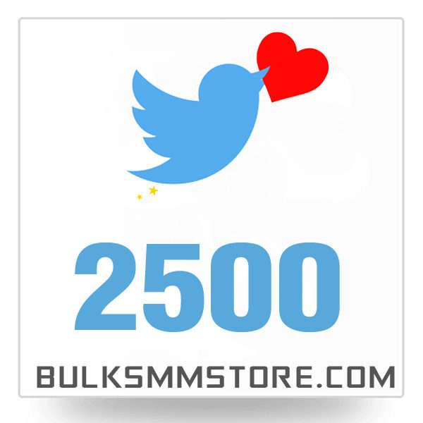 Real 2500 Twitter Likes