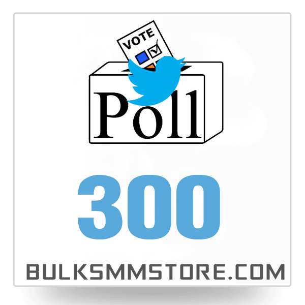 Real 300 Twitter Poll Votes