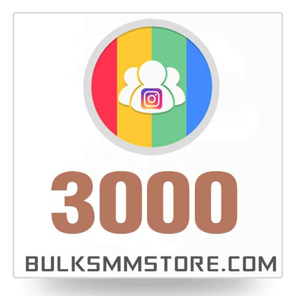 Real 3000 Instagram Followers