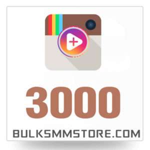 Real 3000 Instagram Video Views