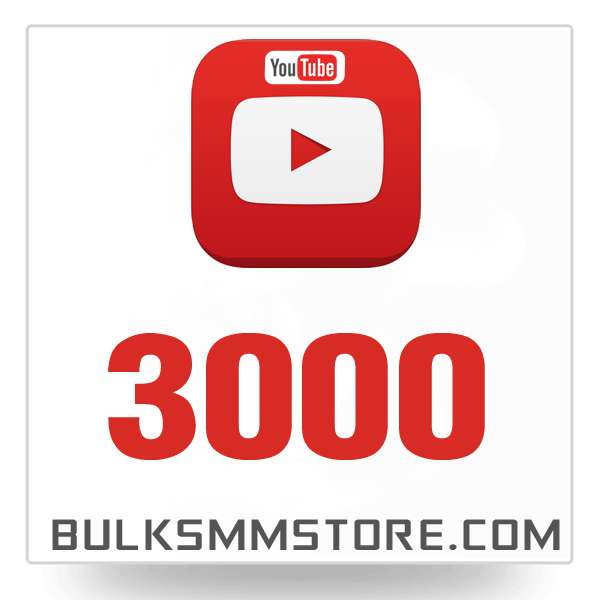Real 3000 Youtube Views