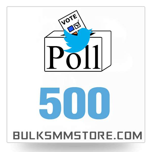 Real 500 Twitter Poll Votes