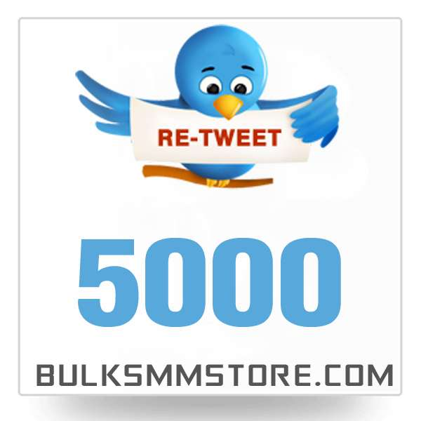 Real 5000 Twitter Retweet