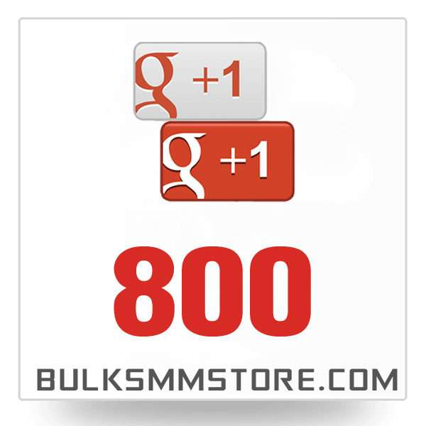 Real 800 Google Plus Likes