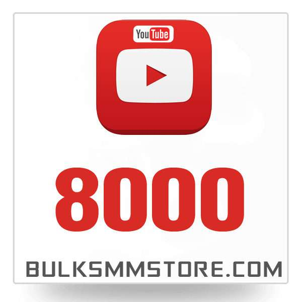 Real 8000 Youtube Views