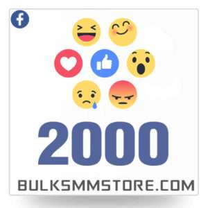 Real 2000 Facebook Post Likes
