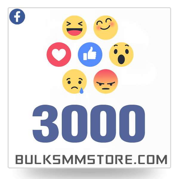 Real 3000 Facebook Post Likes